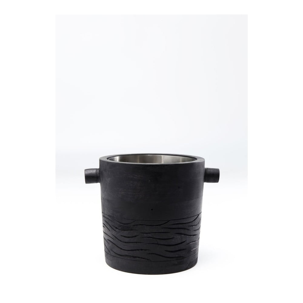 Čierna chladiacia misa na víno Kare Design Wine Cooler Daylight