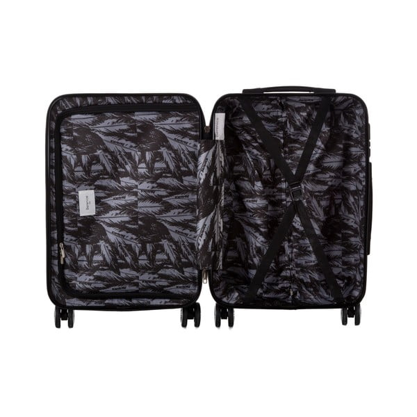 Sivý cestovný kufor Berenice Wings, 44 l