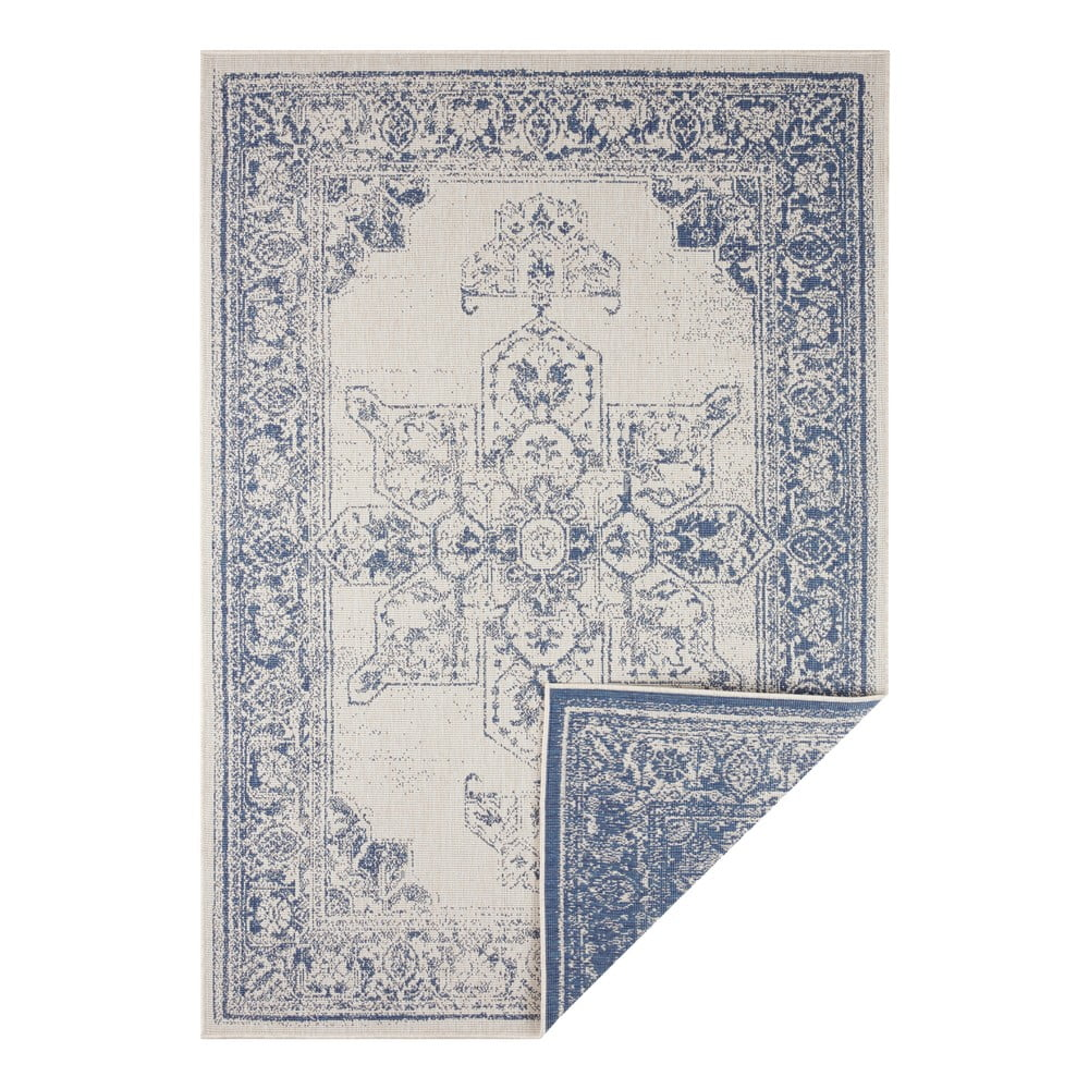 Modro-krémový vonkajší koberec Bougari Borbon, 200 x 290 cm