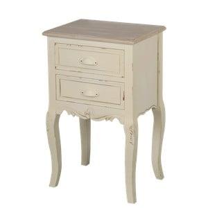 Krémový nočný stolík z topoľového dreva Livin Hill Rimini