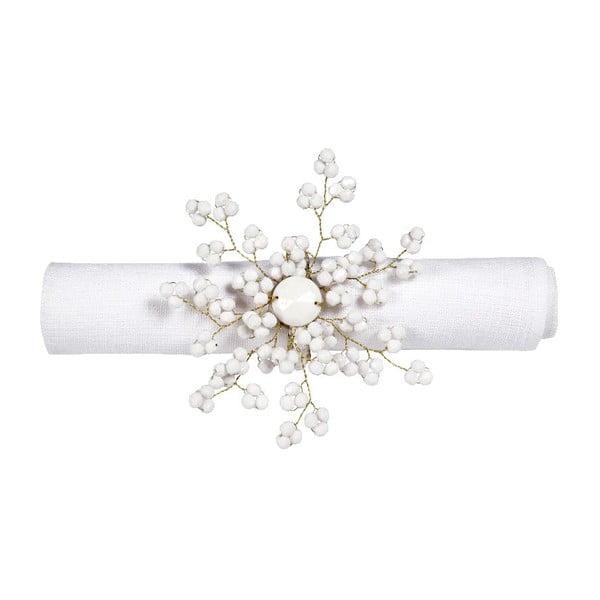 Set 6 prsteňov na obrúsky Snow
