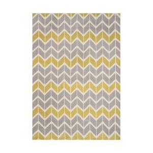 Koberec Asiatic Carpets Chevron Lemon, 100x150 cm