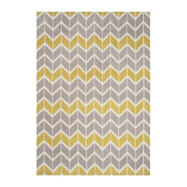 Koberec Asiatic Carpets Chevron Lemon, 100x150 cm