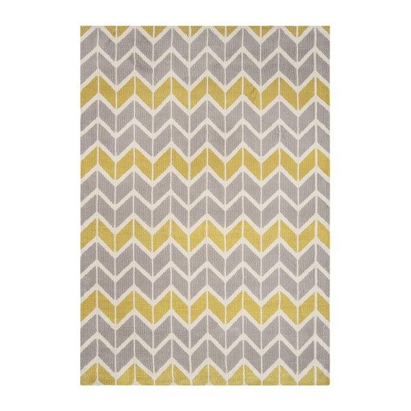 Koberec Asiatic Carpets Chevron Lemon Grey, 120x170 cm