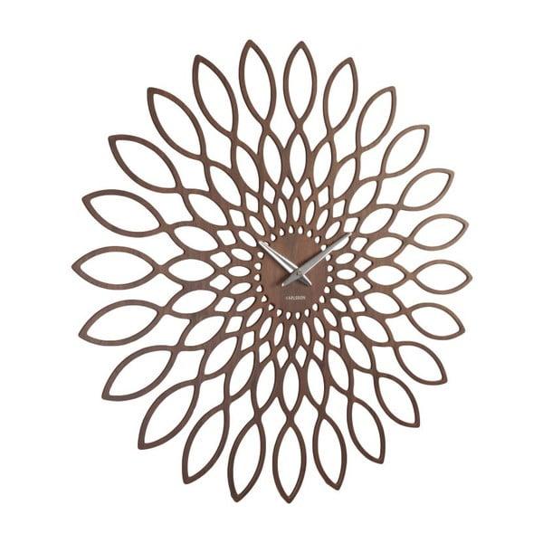 Hodiny Sunflower Walnut