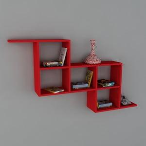 Polica Zeta Book Red, 22x147,2x82,2 cm
