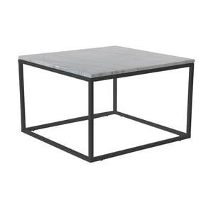 Mramorový konferenčný stolík s čiernou konštrukciou RGE Accent, 75 x 75 cm