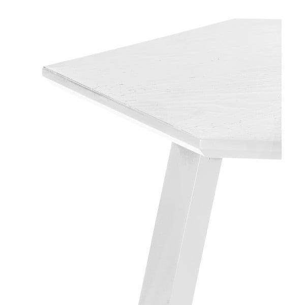 Konferenčný stolík Hexagon Pearl White, 47x37x47 cm