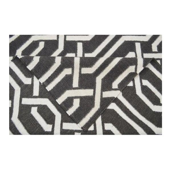 Vlnený koberec Bakero Camila Dark Grey, 60 x 90 cm