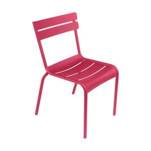Ružová záhradná stolička Fermob Lu×embourg