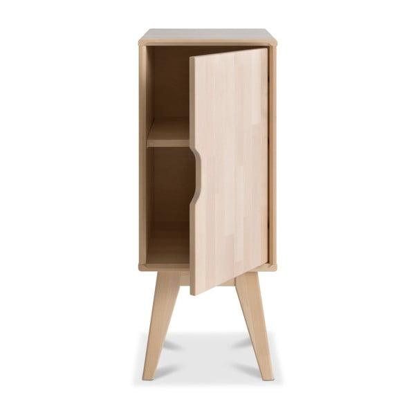 Ručne vyrobený nočný stolík z masívneho brezového dreva Kiteen Kolo