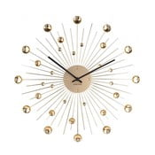 Nástenné hodiny z krištáľu zlatej farby Karlsson Sunburst