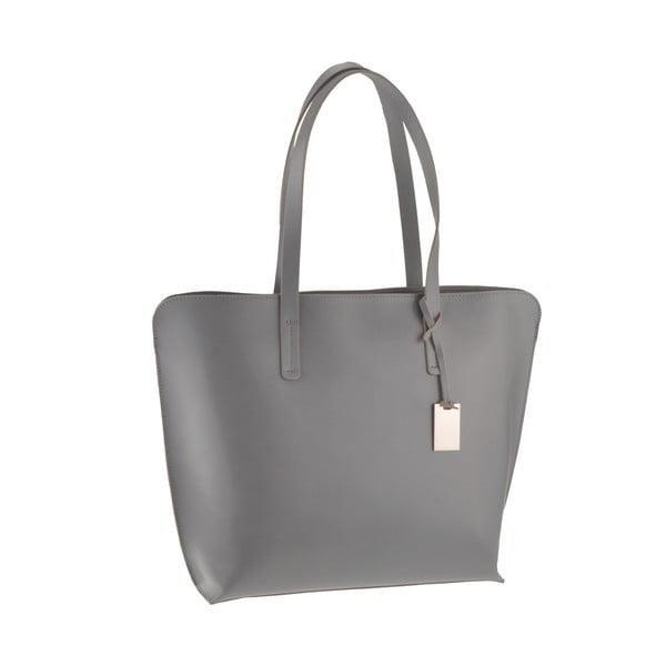 Kožená kabelka Vega, sivá