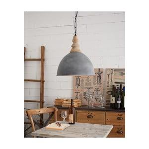 Sivé stropné svietidlo Milano Old Factory, ø 41 cm