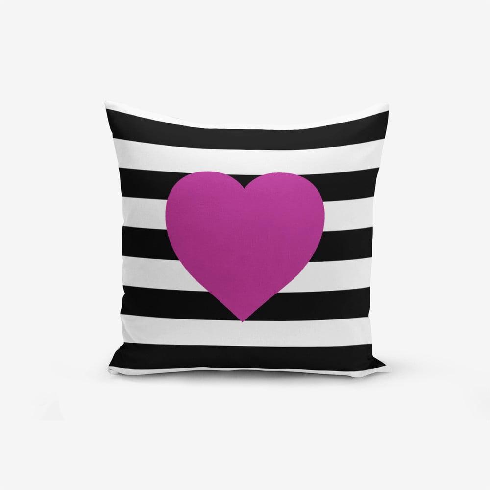 Obliečky na vaknúš s prímesou bavlny Minimalist Cushion Covers Purple, 45 × 45 cm