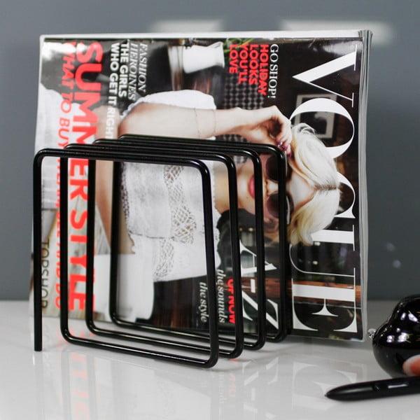 Čierny stojan na časopisy Magazine Rack