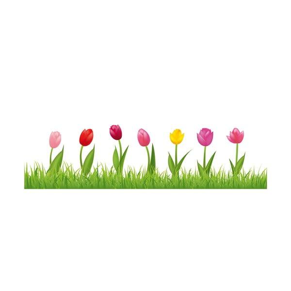 Samolepka na okno Happy Tulips