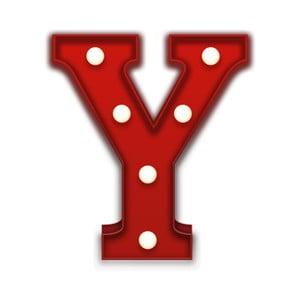 Dekoratívne svetlo Carnival Y, červené