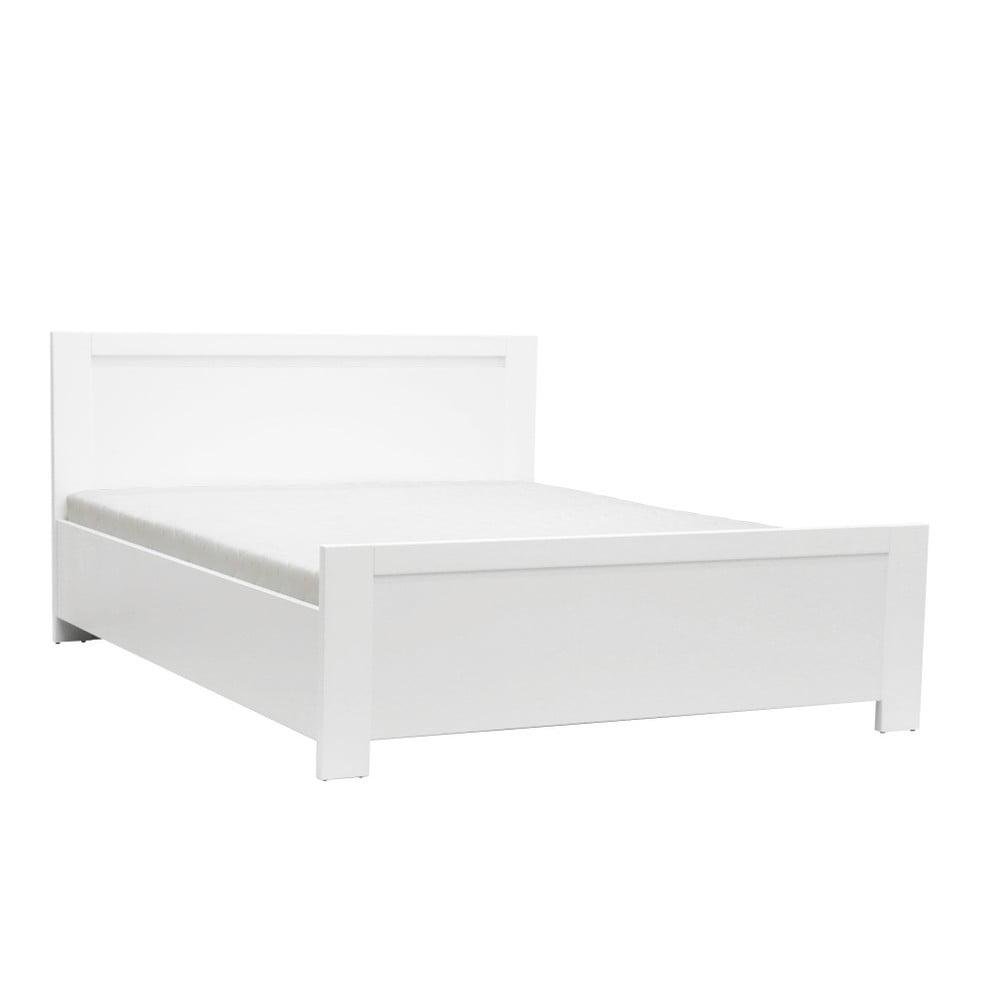 Biela dvojlôžková posteľ Mazzini Beds Sleep, 140 × 200 cm