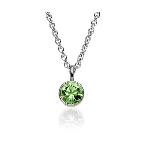 Sada náušníc a náhrdelníku Bezel Peridot