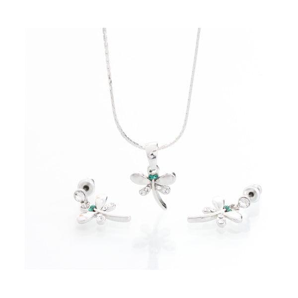 Set náhrdelníka a náušníc s krištáľmi Swarovski Elements Laura Bruni Martine