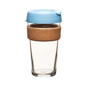 Cestovný hrnček s viečkom KeepCup Brew Cork Edition Rock Salt, 454 ml