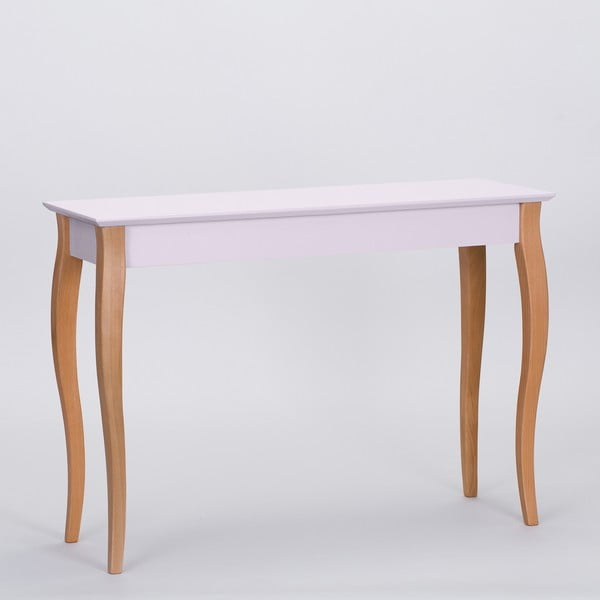 Ružový odkladací stolík Ragaba Console,dĺžka105cm