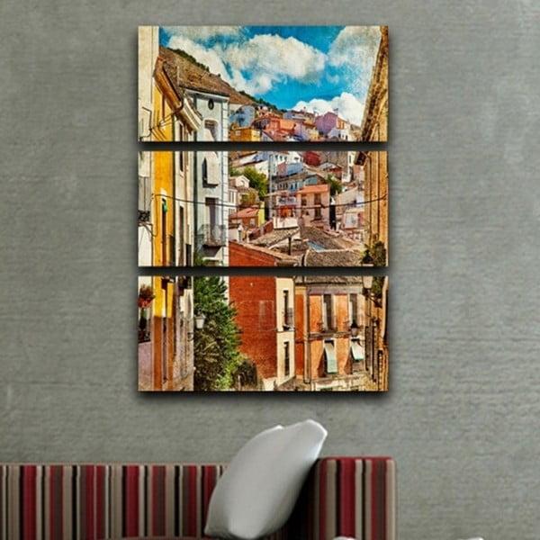 3-dielny obraz Život ulice