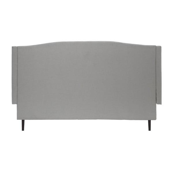 Svetlosivá posteľ VIVONITA Windsor 160x200cm, čierne nohy