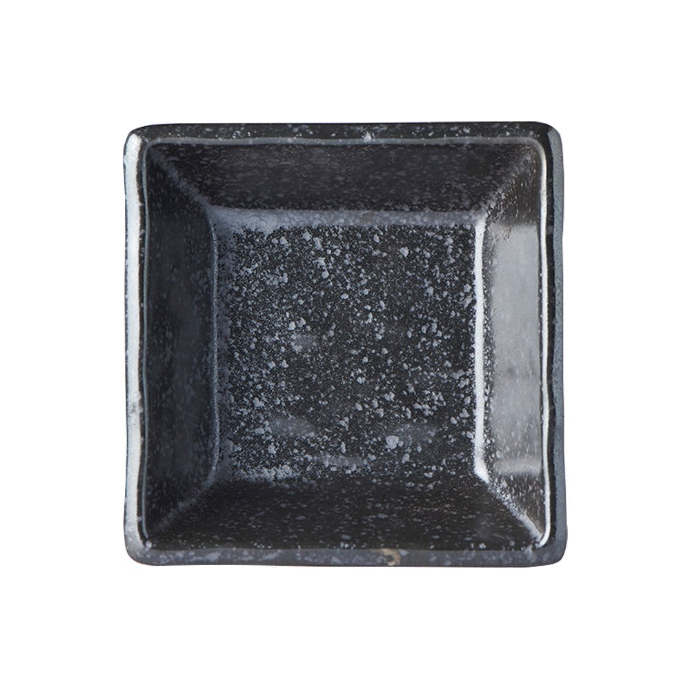 Čierna keramická mištička Mij Matt, 9 x 9 cm