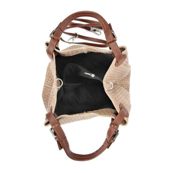 Hnedá kožená kabelka Isabella Rhea Ariya