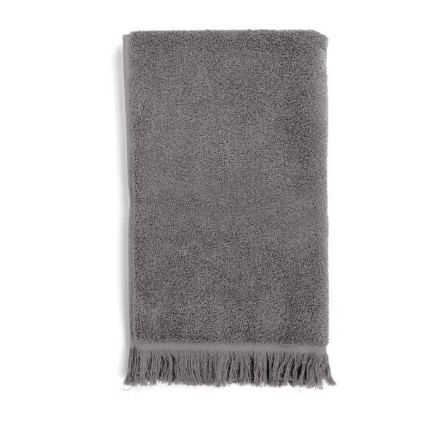 Sada 2 sivých bavlnených osušiek Casa Di Bassi Soft,100x160cm