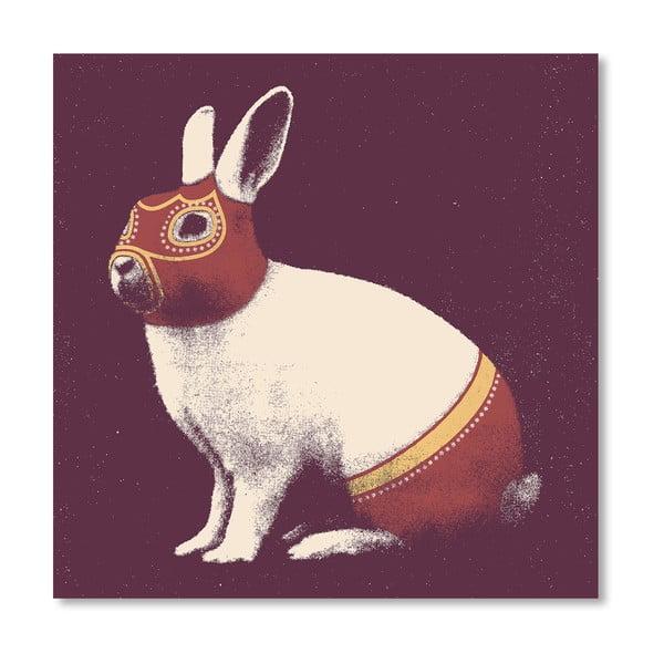Plagát Rabbit Wrestler od Florenta Bodart, 30x30 cm