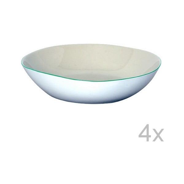 Set hlbokých tanierov Funky Rio, 21,5 cm (4 ks)