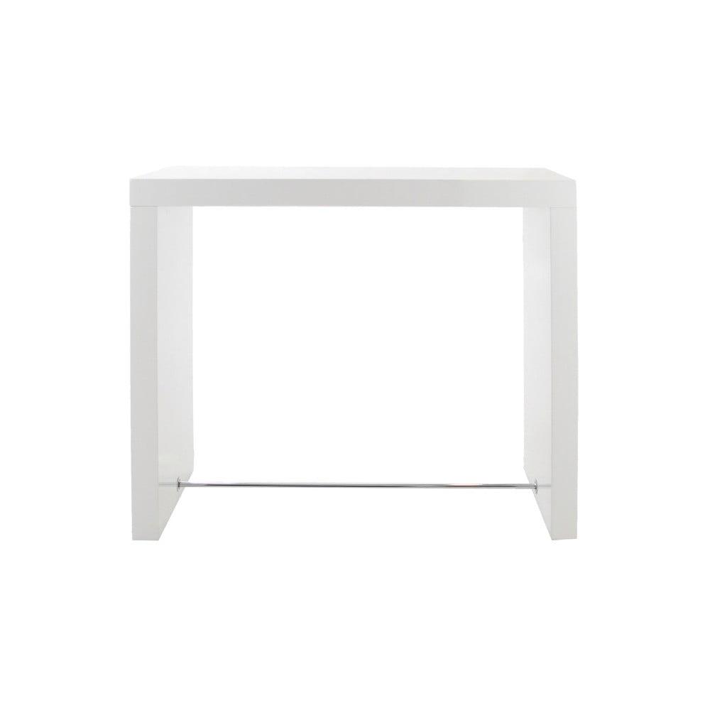 Biely barový stolík Actona Block