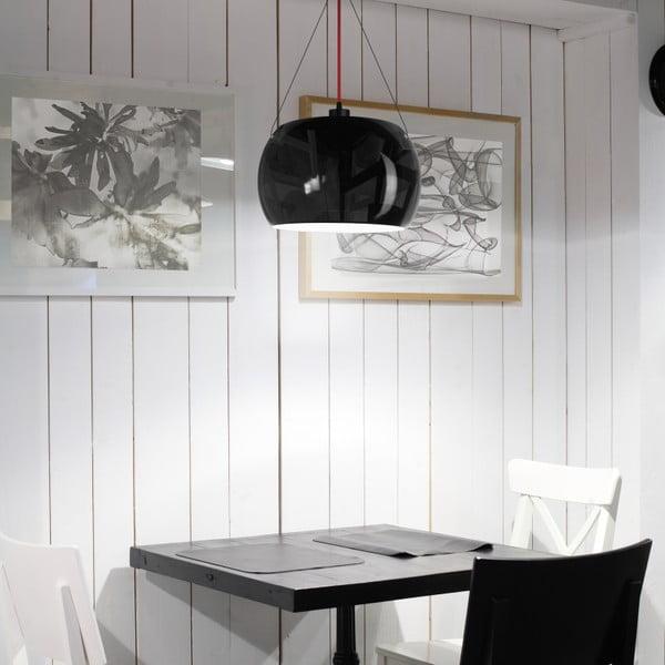 Čierno-medené závesné svietidlo Sotto Luce Momo