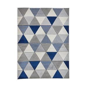 Modrý koberec Think Rugs Matrix, 160 x 220 cm