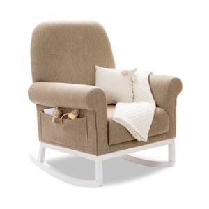 Béžové hojdacie kreslo Rocking Mother Chair