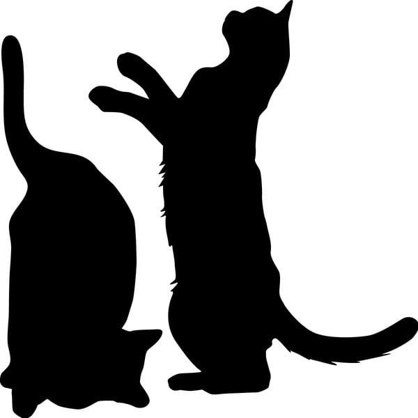 Sada 2 samolepiek Cute Cats