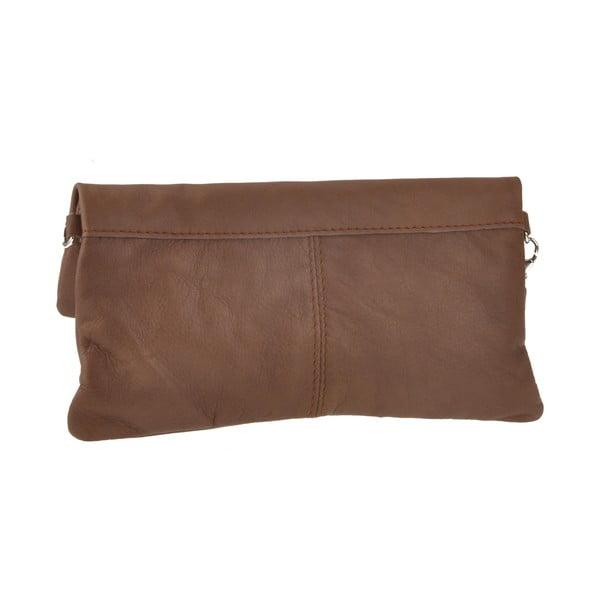 Kožená kabelka Castor, čokoládová