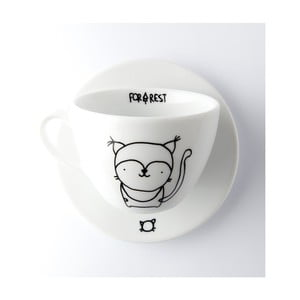 Hrnček na kávu s tanierikom FOR.REST Lynx, 200 ml