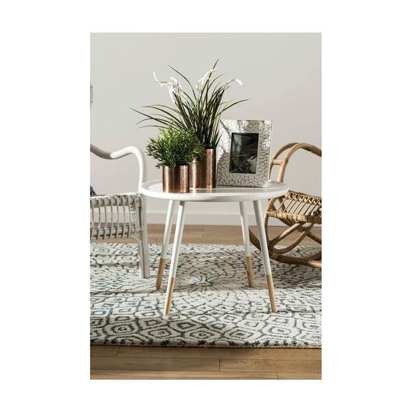 Biely odkladací stolík Premiere Living Viborg, ⌀ 60 cm