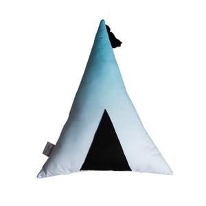 Bielo-modrý vankúš Vigvam Design Ombré