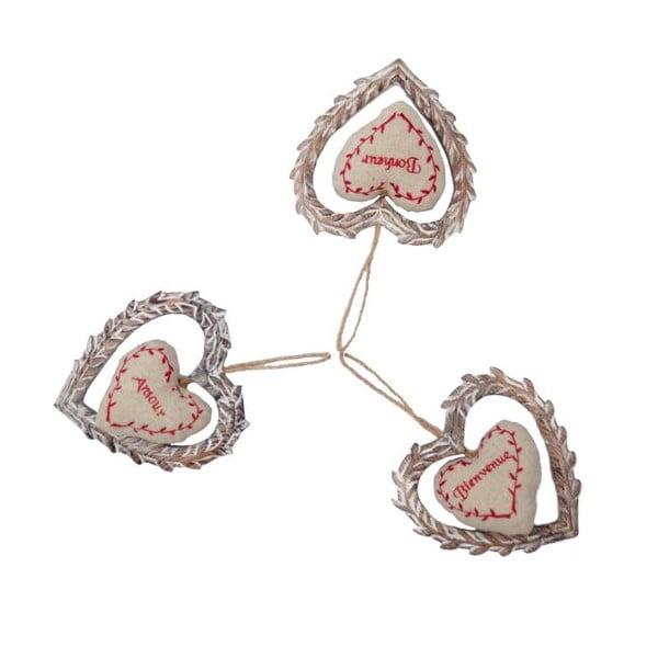 Sa 3 závesných srdiečok Antic Line Amour Nature