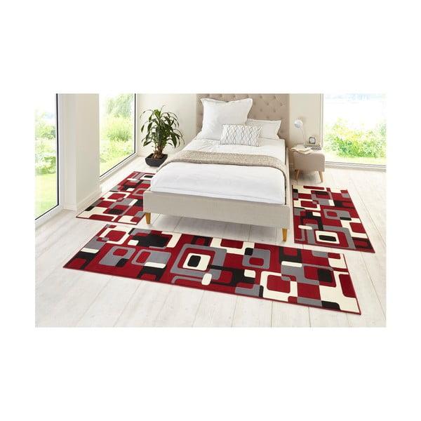 Červený koberec Hanse Home Hamla Retro, 80x200 cm