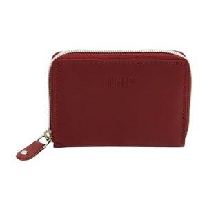 Tmavočervené kožené puzdro na kreditné karty Friedrich Lederwaren