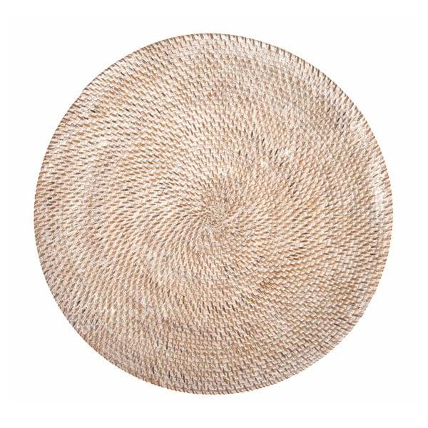 Biele ratanové prestieranie Tiseco Home Studio, ⌀ 36 cm