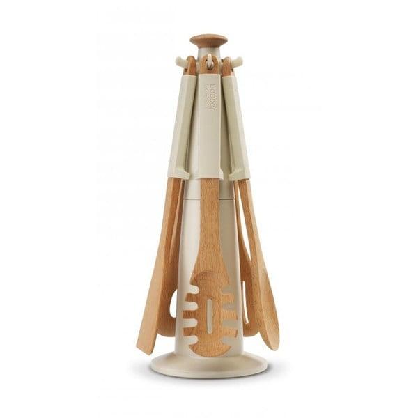 Stojan s nástrojmi Elevate Wood Carousel, béžový
