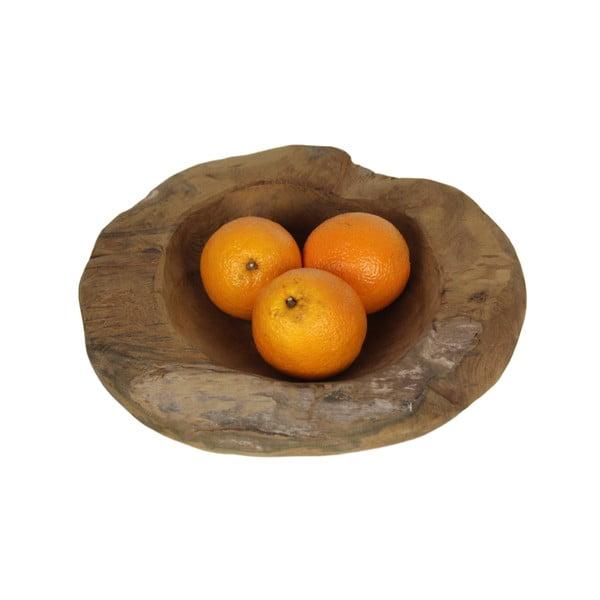 Misa na ovocie z teakového dreva HSM Collection Mara, ⌀ 30 cm
