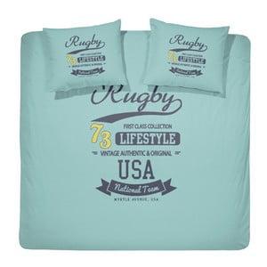 Obliečky Rugby Aqua, 240x200 cm